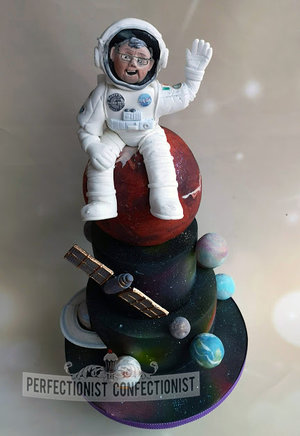 Space  theme  planets  nasa  astronaut  spaceman  birthday  cake  60th  fowlers malahide  dublin  nasa   %281%29