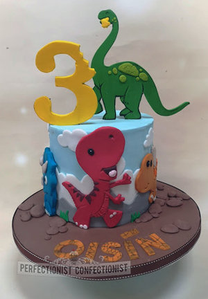 Kid  3  dinosaurs  cartoon  cake  birthday cake  novelty cake  dublin  swords  malahide  kinsealy   chocolate biscuit cake  fun  handmade %282%29