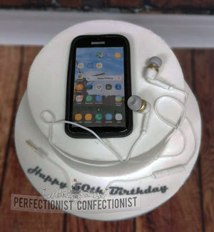 Birthday cake  cake  birthday  samsung  phone  earbuds  baileys  howth  dublin  swords  malahide  novelty  celebration  50th %281%29