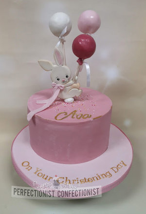 Lemon  pink  balloons  bunny  cake  christening  naming day  christening cake  naming day cake  dublin  swords  malahide  kinsealy  sutton  clontarf %282%29