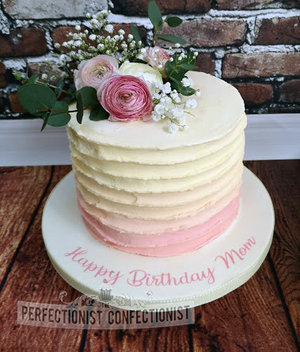 Ombre  70th  balange  pink  flowers  pretty  birthday  wedding  christening  cake  novelty  dublin  malahide  raheny  swords  kinsealy %285%29