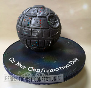 Star wars  death star  cake  birthday cake  birthday  confirmation  communion  fun  chocolate biscuit cake  dublin  swords  malahide  kinsealy  dublin %285%29
