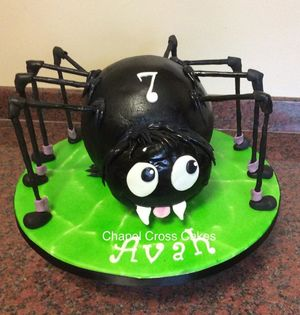 Novelty Spider Cake for a Halloween Birthday
