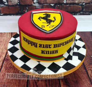 Formula 1  formula one  racing  ferrari  birthday cake  birthday  cake  swords  malahide  kinsealy  dublin  chocolate biscuit  novelty  21st  %284%29