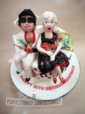 Elvis  donegal  fan club  cake topper  cake maker  dublin  swords  malahide  60th  birthday  elvis  guitar  novelty  celebration  music %283%29