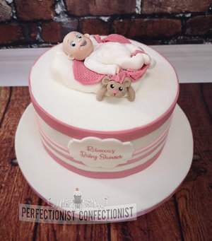 Babyshower  christening  naming day  cake  pink  blue  baby  cake topper  dublin  cake maker  swords  malahide  kinsealy %287%29