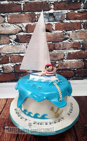 Sailing  pirate  sailboat  cake  birthday  cake maker  novelty  celebration  sandymount  swords  malahide  kinsealy  dublin %287%29