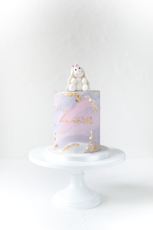 Bunny topper, cake for girls