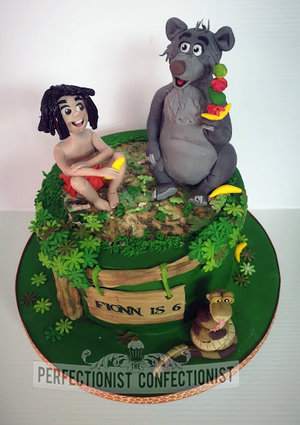 Jungle book  cake  animation  mowgli  baloon  cake toppers  figures  sugarpaste  birthday  dublin  cake maker  swords  clontarf  malahide  kinsealy   %281%29
