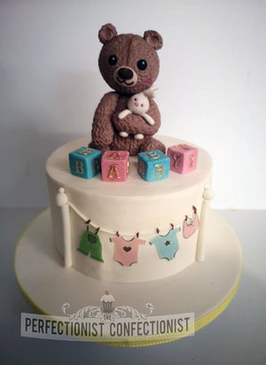 Babyshower  christening  naming day  cake  cake maker  dublin  swords  malahide  kinsealy  bear  blocks  baby clothess  fondant  handmade %282%29