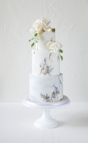 wedding cake, sugar flowers, marble effect, gold leaf