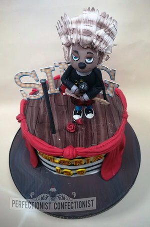Sing  movie  birthday cake  birthday  cake  ash  cake topper  fondant  model  swordss  malahide  kinsealy  dublin  novelty  cake maker  bespoke  %283%29