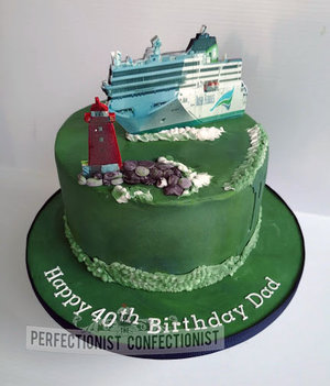 Irish ferries  birthday cake  cake  novelty  celebration  poolbeg  lighthouse  40th  dublin  swords  malahide  ringsend  cake maker  %284%29