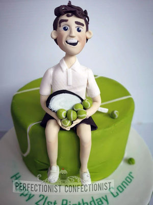 Tennis  player  birthday  cake  dublin  cake maker  balls  tennisballs  dublin  malahide  kinsealy  swords  novelty  cake topper  personalised   %282%29