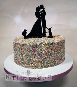 Wedding cake  wedding  cake  sprinkle cake  funfetti  chocolate biscuit  topper  novelty  celebration  swords  kinsealy  malahide  anglers rest   %283%29