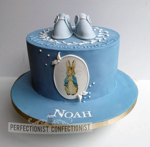 Peter rabbit  drawing  booties  christening  naming day  cake  cake maker  dublin  swords  malahide  baby  boy  celebration  handmade %282%29