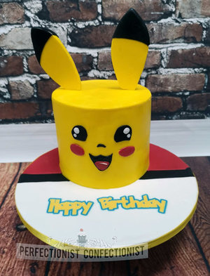 Pikachu  pokemon  birthday  cake  celebration  novelty  swords  malahide  kinsealy  dublin  cake maker  handmade   %281%29