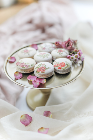 French macarons, wedding favours