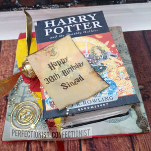 Harry potter  birthday  engagement  cake  cake maker   book  wand  dumbledore  snitch  time turner  chocoalte biscuit  cake  dublin  swords  malahide   %282%29