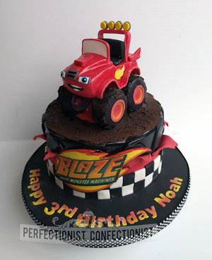 Blaze  monster machines  truck  cake topper  birthday  cake  celebration  novelty  kids cake  chocolate biscuit cake  dublin  cake maker  swords  malahide %281%29