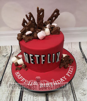 Netflix  birthday cake  birthday  cake  chocolate drip  chocolate bars  sandymount  dublin  cake maker  swords  malahide  novelty   %281%29