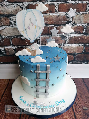 Elephant  hot air balloon  balloon  christening  naming day  cake  carrot  blue  swords  mlahaide  kinselay  dublin  celebration  cute %282%29