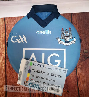 Hayes solicitors  corporate  retirement  cake  birthday  dublin  gaa  jersey  birthday  dublin  swords  malahide  kinsealy  personalised ticket %284%29