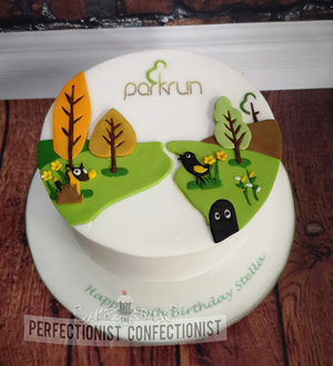 Parkrun  park run   cake  celebration  congratulations  50th  birthday  birthday cake  cake maker  dublin  swords  malahide  kinsealy  chocolate biscuit   %281%29