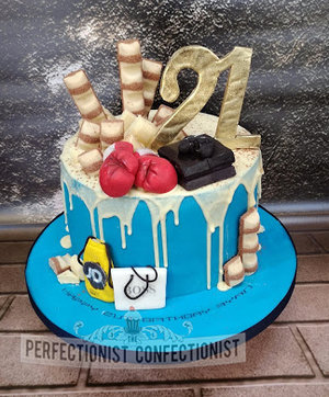 Drip  cake  chocolte  kinder  boxing gloves  playstation 4  ps4  jd sports  hugo boss birthday cake  cake maker  dublin  swords  malahide  kinsealy  %285%29