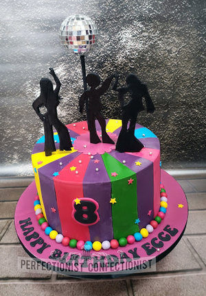 Disco  ball  birthday  cake  dancers  dancing  portmarnock  malahide  kinsealy  dublin  swords  novelty  cakemaker  cake maker   %281%29