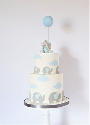 Elephant and Balloon Cake