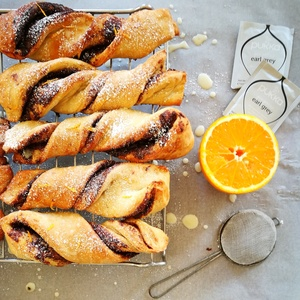 Earl grey, chocolate and bergamot twists
