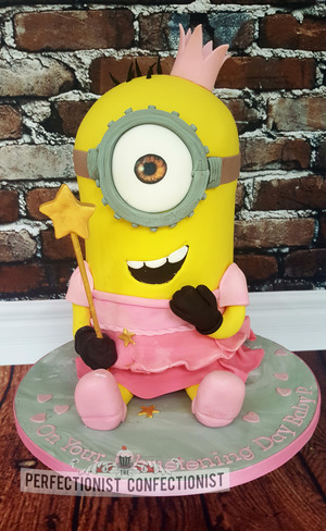 Penny Rose - Minion Christening Cake.  Price for this starts at €140