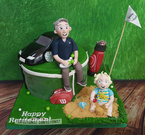 Tom - Golfing and Tennis Cake.  Price starts at €200