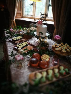 Waterford castle dessert table